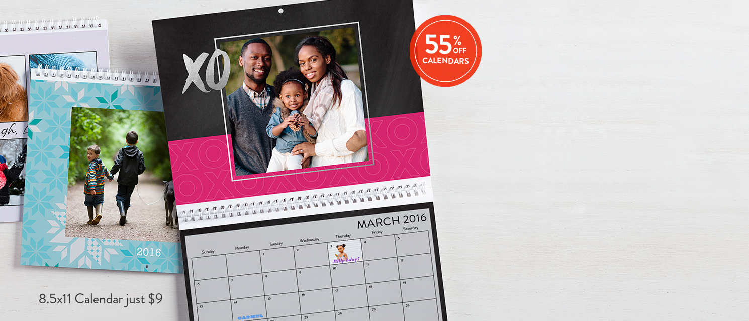 The votes are in : It turns out you're the big winner when you use 55FEB16 to save on calendars.